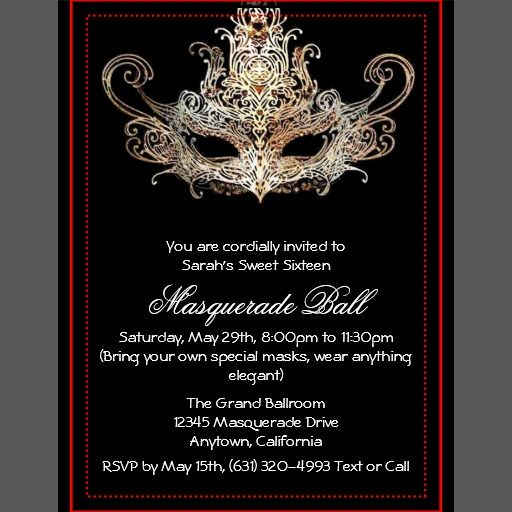 Best 25+ Masquerade invitations ideas on Pinterest | Masquerade wedding, Masquerade ball ...