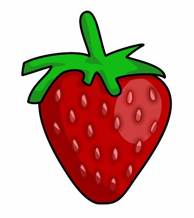 Using a vector application to create this cartoon strawberry could be a nice idea!