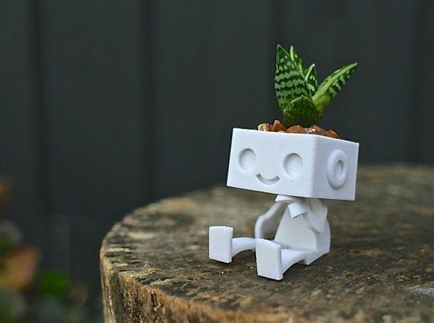 Robbie the Robot Planter 3d printed