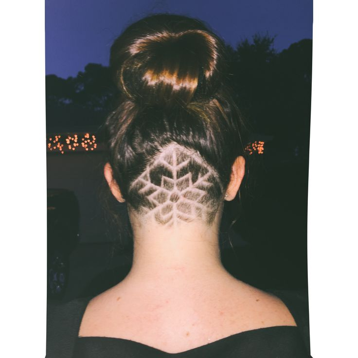 #undercut #haircut #snowflake