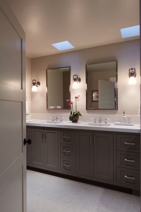 cabinets for bathroom 1000 ideas about taupe bathroom on oak trim 13115