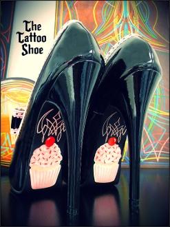 Cuppy-Cupcake High Heel Shoe by Tattoo Shoe