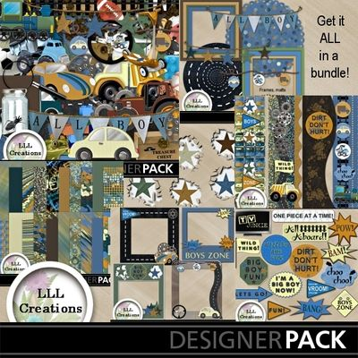 'Boys Zone Bundle' by LLL Creations. #digitalscrapbooking #scrapbooking #LLLCreations