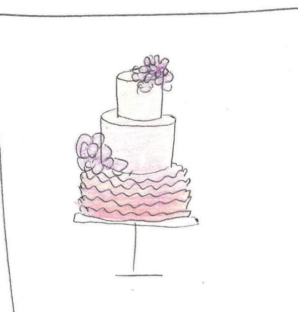 17 best images about Cake Drawings on Pinterest Classy ...