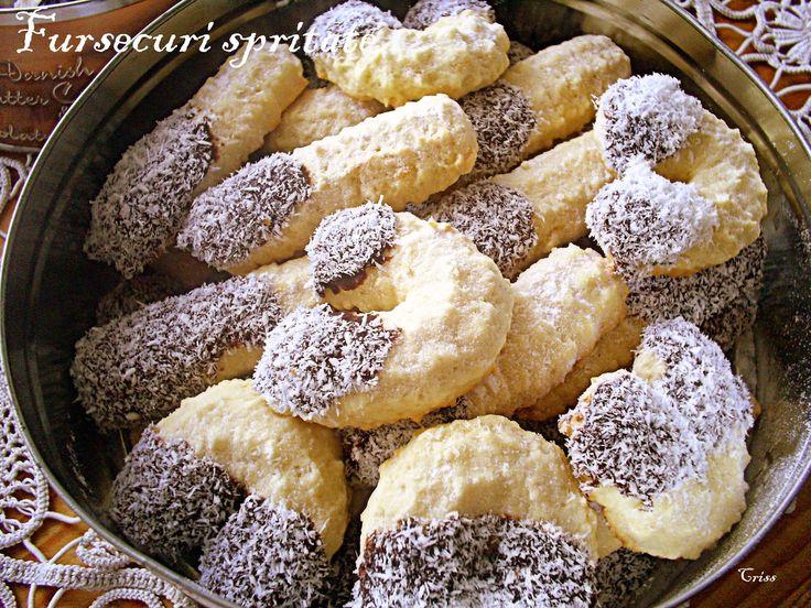Reteta culinara Desert fursecuri spritate din categoria Dulciuri. Cum sa faci Desert fursecuri spritate