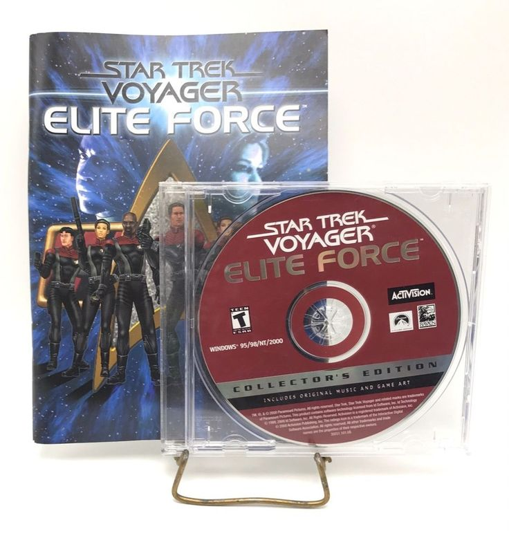 Star Trek Voyager Elite Force Collectors Edition Activision PC Game CD Rom