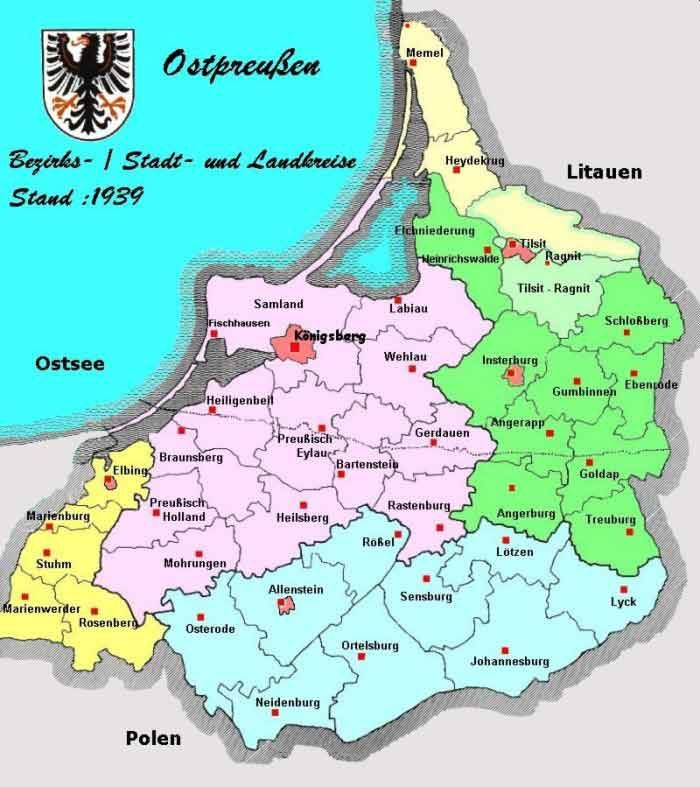 East Prussia administrative - political divisions, 1939-1945.> http://www.heinrich-w-f-schmidt.de/Wissenswertes/Preuszen.htm