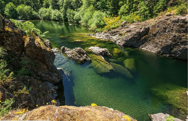The Sooke potholes are magical place in British Columbia that provide visitors with over 3 miles of breathtaking swimming holes and cascading waterfalls.