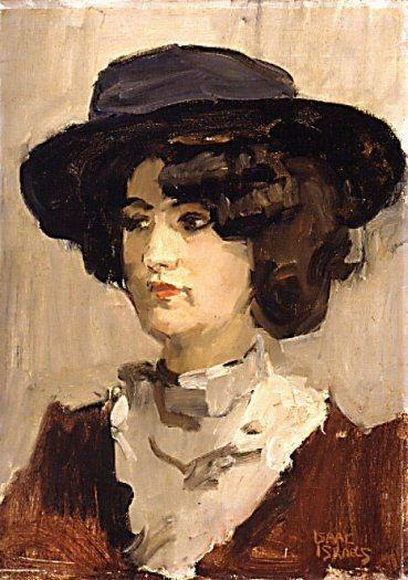 Portrait of young woman ('Jeune Espagnole') - Isaac Israels (1865 - 1934). In the K.M.