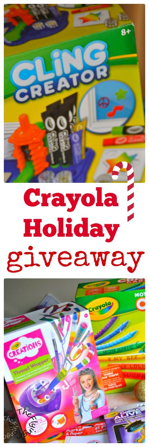 Crayola Holiday Prize Pack Giveaway. Christmas gift ideas. Canada only. Ends Nov. 26 2015. The Flying Couponer- Family. Travel. Saving Money.