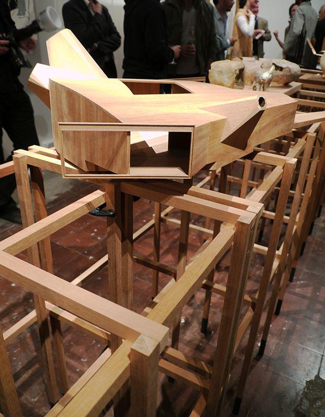 Modelo em madeira