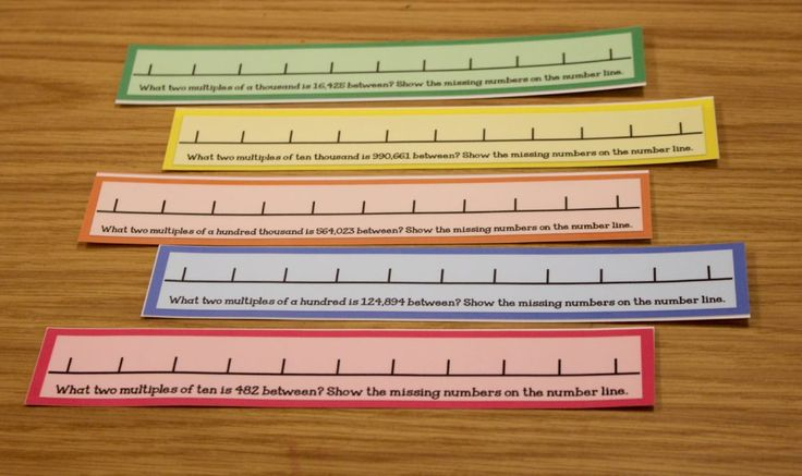 Rounding Task Cards-I love this write on and wipe off math number lines. They are perfect for teaching the concept of rounding!