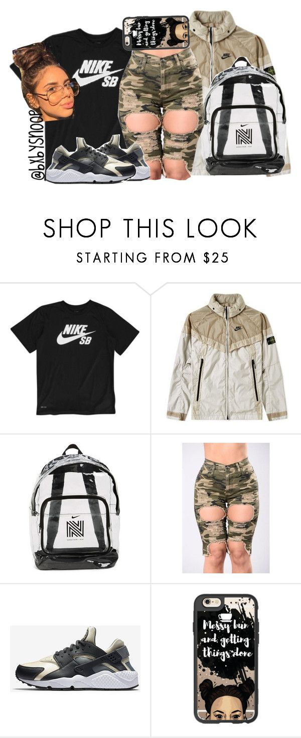 """""""Go Join My """"Nike Freshh """" Contest In My """"How To Slayy ✨"""" Group!! (Read Description)"""" by bxbysnoop ❤ liked on Polyvore featuring NIKE, STONE ISLAND, Three Potato Four, Casetify, nike and NikeFresh"""