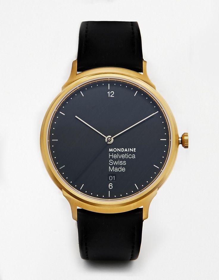Mondaine Helvetica Leather Strap Watch