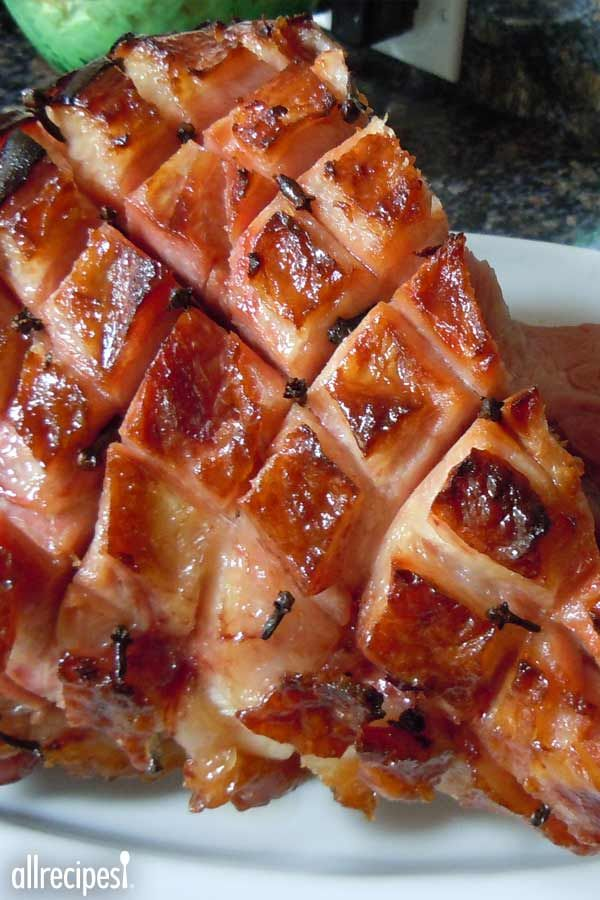 "Honey Glazed Ham | ""I think this may have been the best ham I've ever had! The glaze caramelized nicely and the ham was so moist!!!!!"""