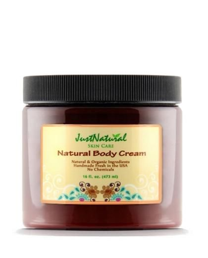 Natural Body Cream with organic ingredients