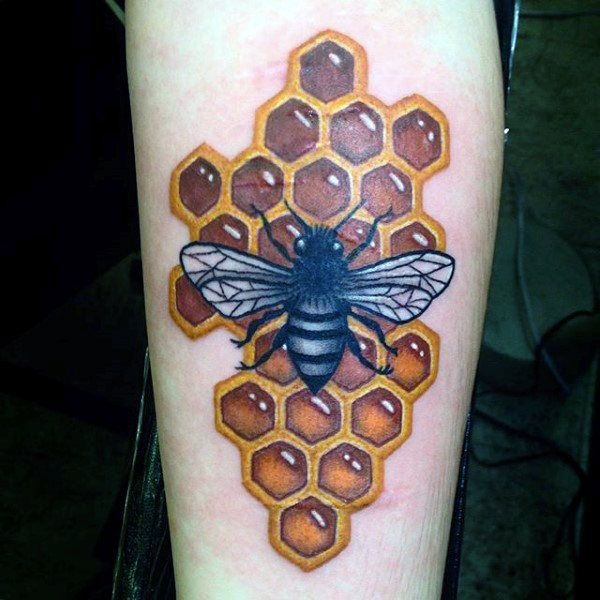 80 Honeycomb Tattoo Designs For Men – Hexagon Ink Ideas