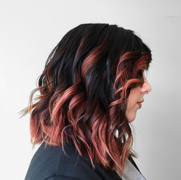 Aveda Artist Lane Grimes tipped this dark with a