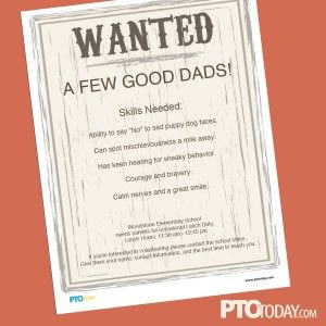 A shout out to all the dads who help out at schools!