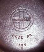 Griswold Cast Iron Skillet 1944-1957 How to clean and season iron cook wear.