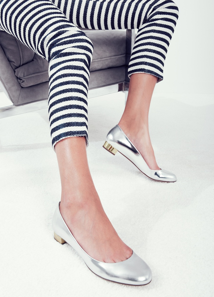 J.Crew Janey metallic flats: