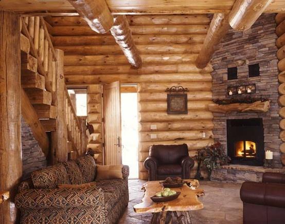Log Cabin: Dreams Houses, Living Rooms, Corner Fireplaces, Cabins Living, Logs Cabins, Rustic Cabins, Cabins Interiors, Logs Home, Logs Houses