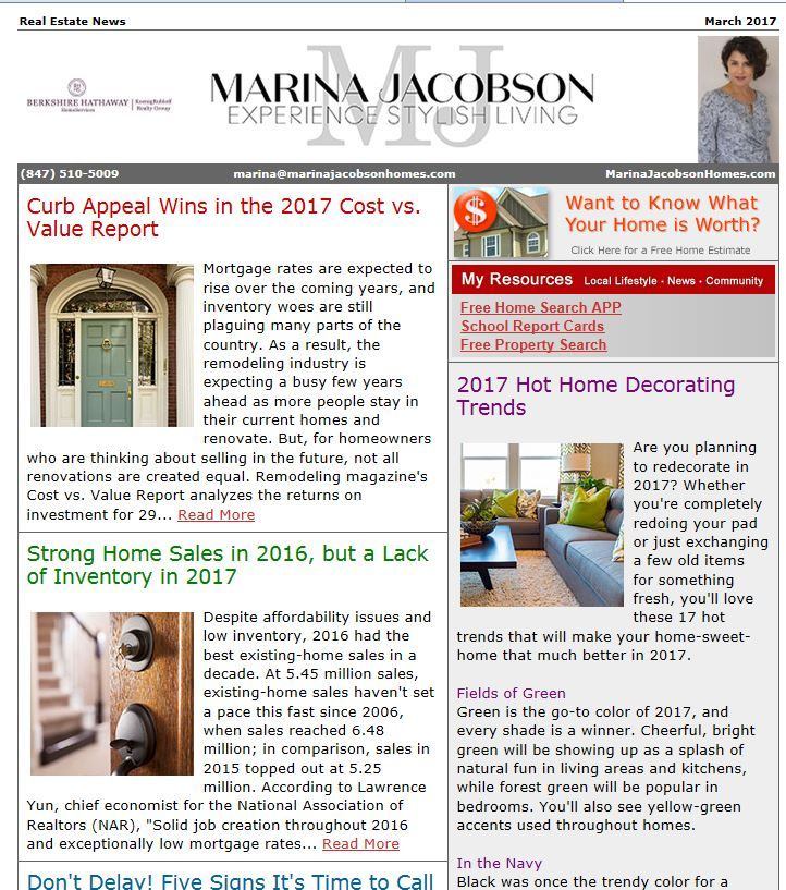 March 2017 Real Estate News - http://www.marinajacobsonhomes.com/march-2017-real-estate-news/