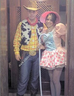 Homemade Toy Story Couple Costume: Last year, in 2010, me and my boyfriend decided to wear a Toy Story's costume in a Carnival's party, he like a Wood and me like a Little Bo Peep. It was