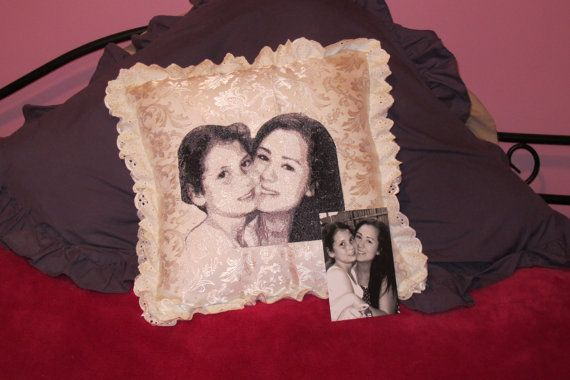 Customised Embroidered  Cushion Cover made for by Letzrock on Etsy