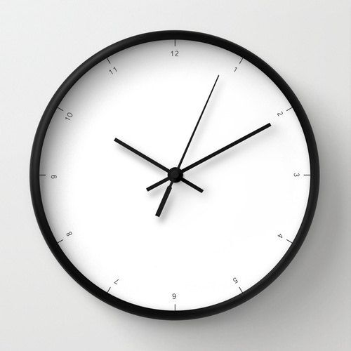 wall clock with small numbers of hours very chic and modern wall clock essential wall clock minimalist clock elegant home office decor