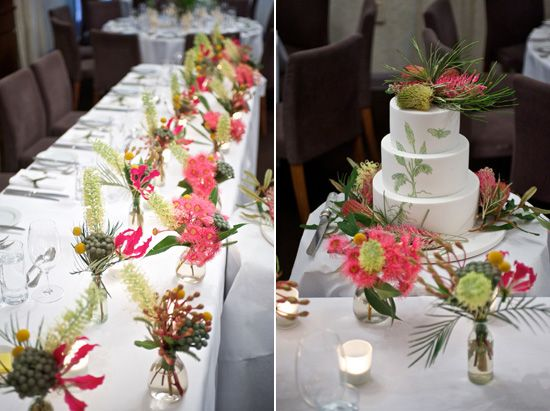 Australian native flower arrangements for table decor