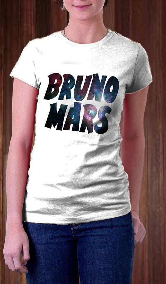 Bruno Mars Text Galaxy Women T Shirt  Singer T Shirt  by Ngetrick, $16.98