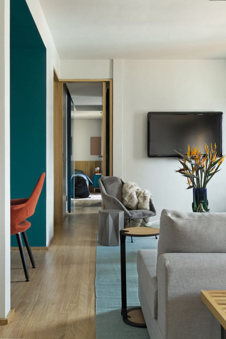 A São Paulo Apartment Inspired by Petroleum Blue - Design Milk
