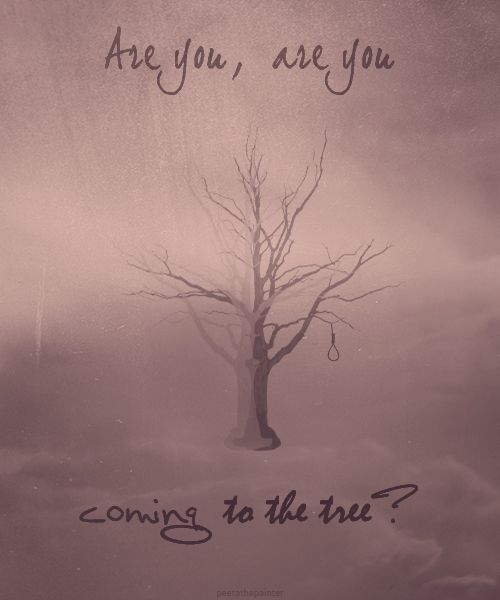 The Hanging Tree. I remember reading this part in the book and just loving this song! I memorized it. I think it's sad that they didn't include the story behind the song in the movie.