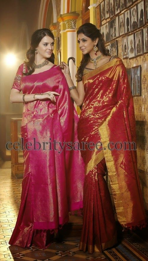 Models in Silk Sarees