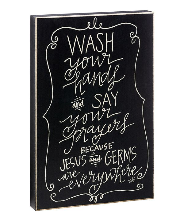 Look at this 'Wash Your Hands' Box Sign on #zulily today!