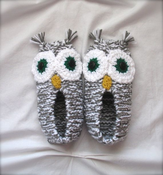 Crocheted owl slippers Homemade Christmas Gifts