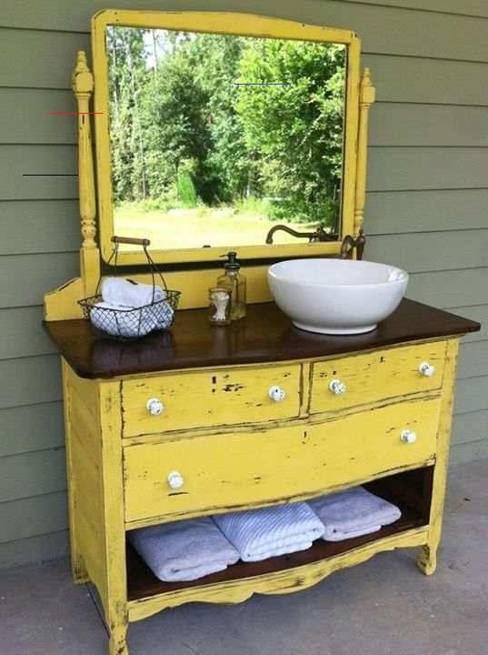 Vintage Kabinette In Schone Badezimmer Waschbecken Umwandeln Dekoration De Vintage Kabinette In Schone Badezimmer Waschb In 2020 Bathroom Sink Diy Diy Bathroom Vanity