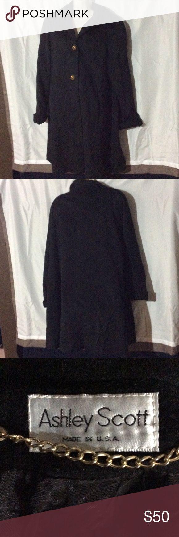 Black trench coat Black Ashley Scott trench coat. Measurements will be added. ashley scott Jackets & Coats Trench Coats