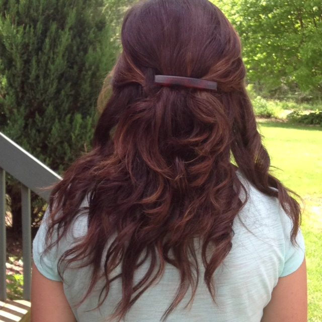 Half up half down with curls: Half Up, Hairs Styles