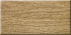 Oak veneer with clear lacquer finish.