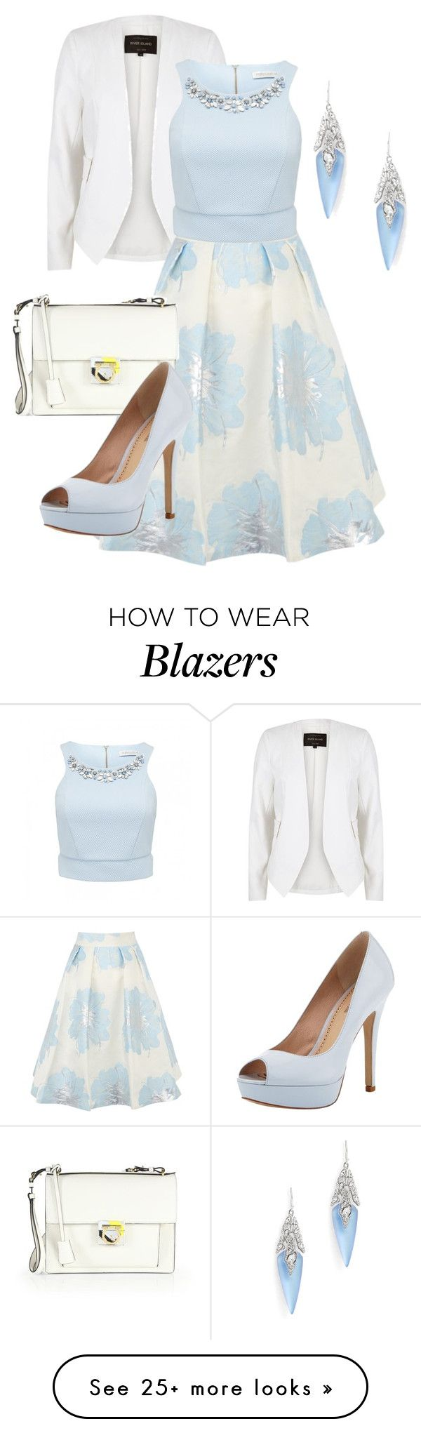 """Untitled #991"" by srlangley on Polyvore featuring River Island, Coast, Alexis Bittar, Forever New, Salvatore Ferragamo and Pour La Victoire"