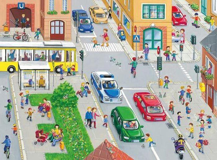 сюжетные картинки улиц