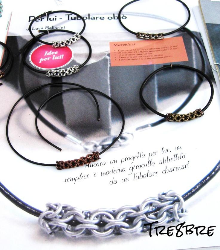 "Tubular ""Oblò""  chainmail handmade by Tre8bre"