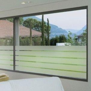 Sticker+occultant+pour+vitres+et+fenêtres+motif+larges+bandes+horizontales.