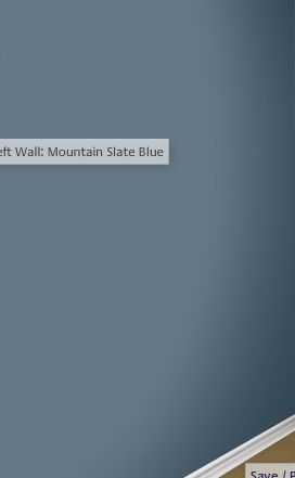 Mountain Slate Blue  Glidden  Guest Room