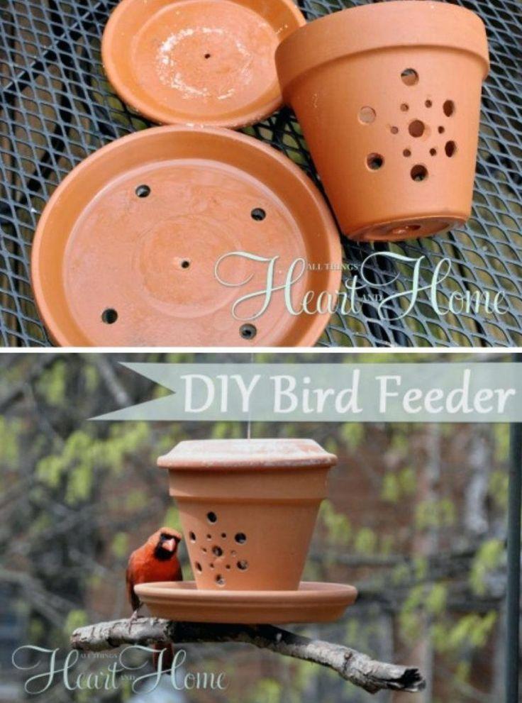 Hanging Bird Feeder Plan Flower Pot Bird Feeder Bird Feeders That Attach To Window