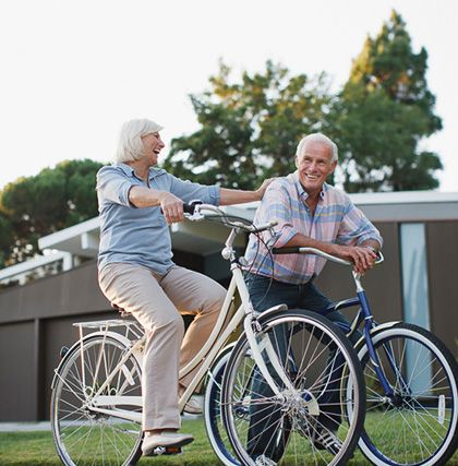 Biking is a wonderful, low-impact activity to get you moving - and outside!: