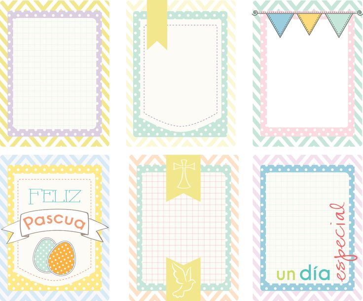 Gratis imprimible de tarjetas para project life, gratis tarjetas colores pastel... free printable spanish and pastel colors.