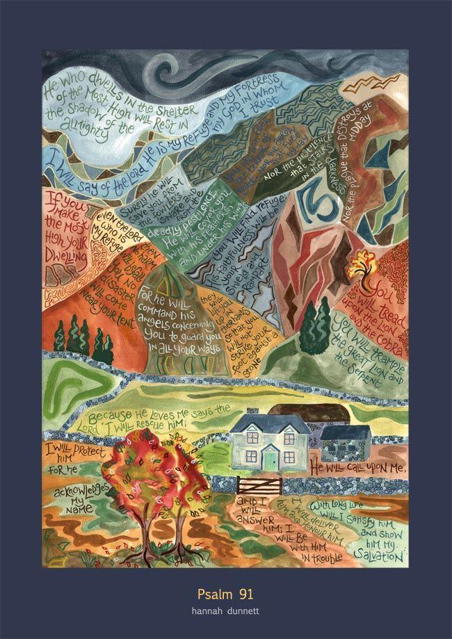 Hannah Dunnett Psalm 91 Print
